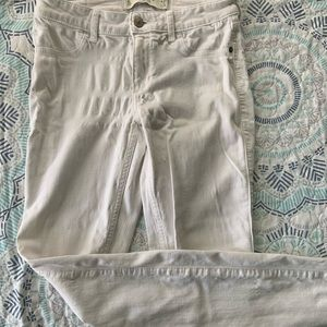 White stretchy AB&F jeans
